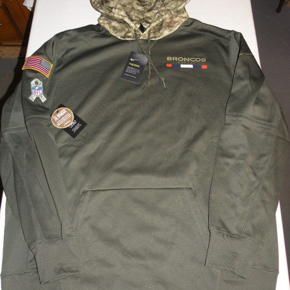 outlet store sale c3f87 a698c Nike Denver Broncos Salute to service hoodie NWT